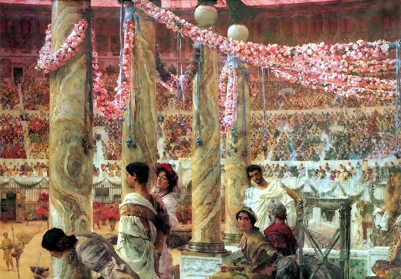 Император Каракалла и фракийская девушка (Гета). Лоуренс Альма-Тадема