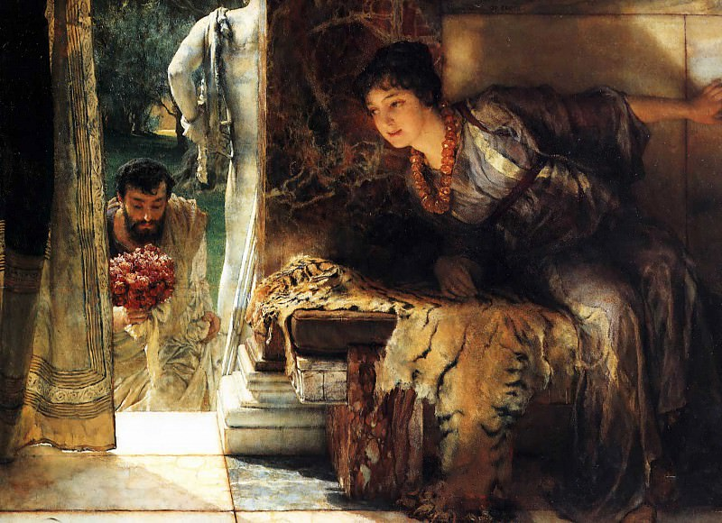 Welcome footsteps. Lawrence Alma-Tadema