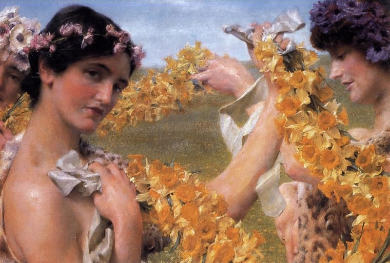 When flowers return. Lawrence Alma-Tadema