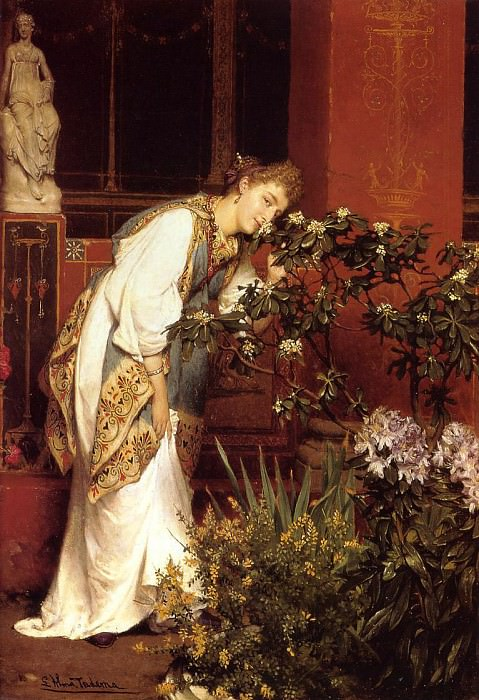 In the Peristyle. Lawrence Alma-Tadema