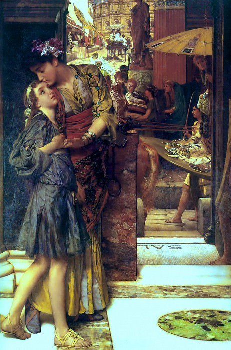 The parting kiss. Lawrence Alma-Tadema