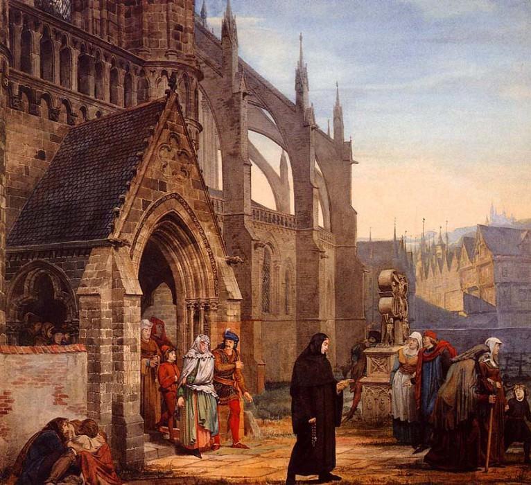 Фауст и Маргарита 1857. Lawrence Alma-Tadema