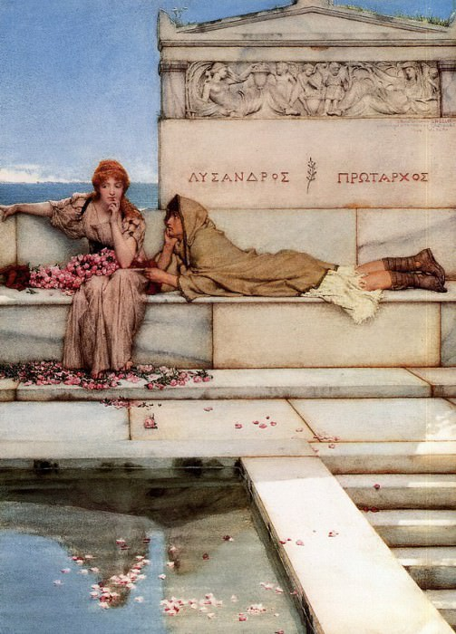 Xanthe and Phaon. Lawrence Alma-Tadema