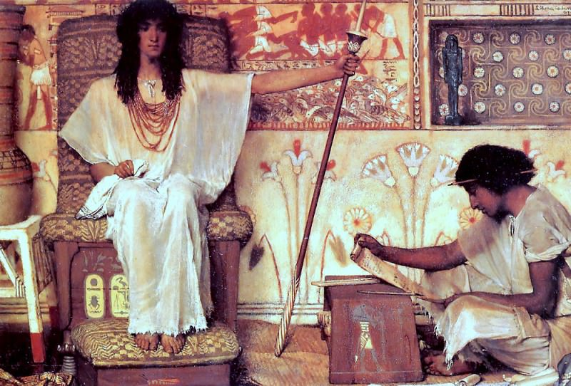 Joseph - overseer of the pharoahs granaries. Lawrence Alma-Tadema
