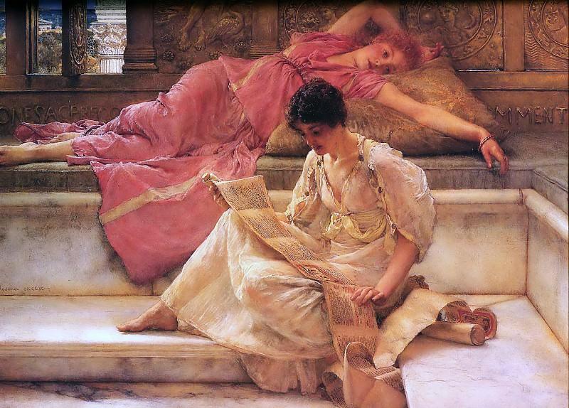 Favourite Poet. Lawrence Alma-Tadema