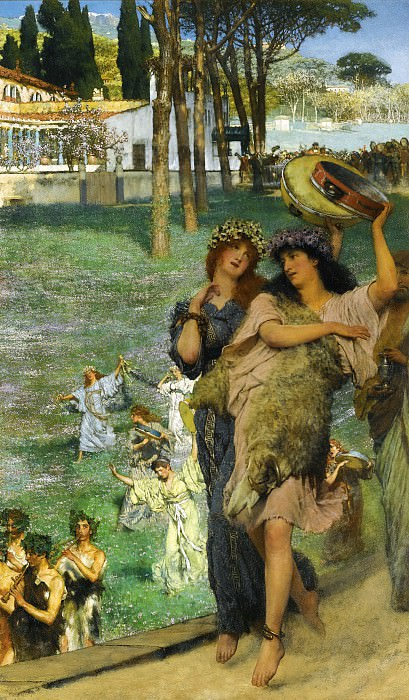 A Spring Festival (On the Road to the Temple of Ceres). Lawrence Alma-Tadema