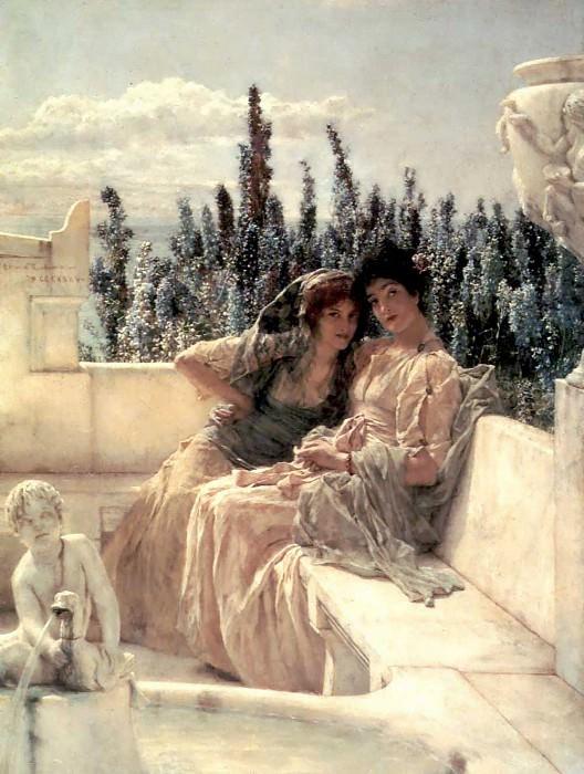 Whispering noon. Lawrence Alma-Tadema