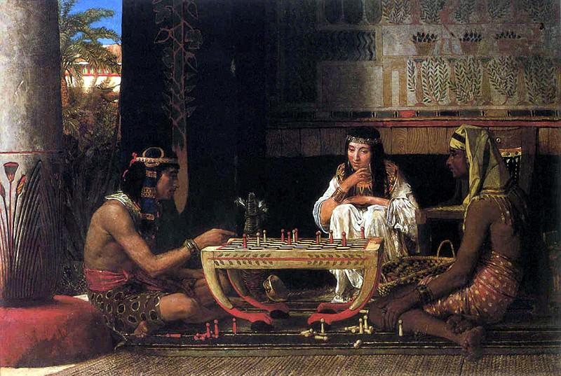 Egyptian chess players. Lawrence Alma-Tadema