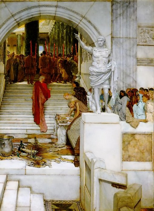 After the Audience. Lawrence Alma-Tadema