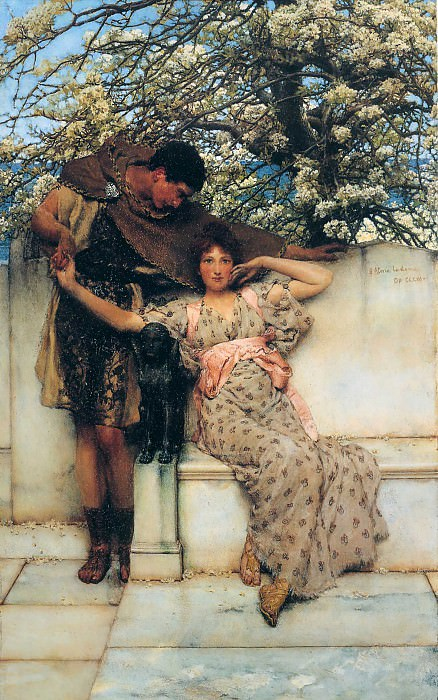 Promise of spring. Lawrence Alma-Tadema