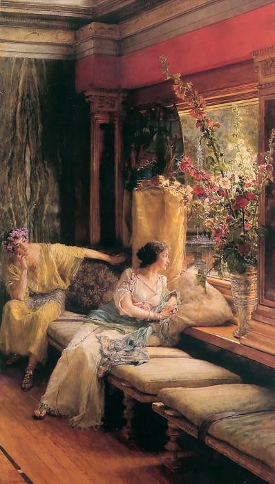 Vain courtship. Lawrence Alma-Tadema