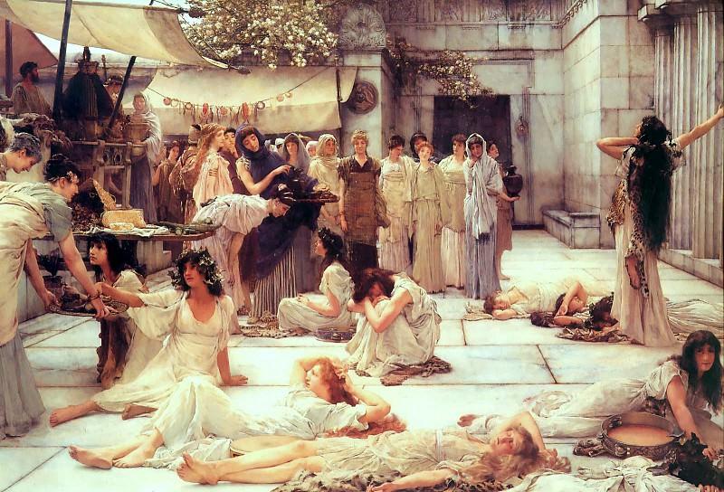 Women of Amfiss. Lawrence Alma-Tadema