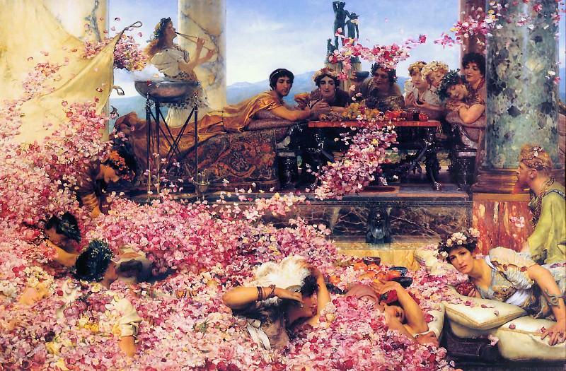 the Roses of Heliogabalus (1888). Lawrence Alma-Tadema
