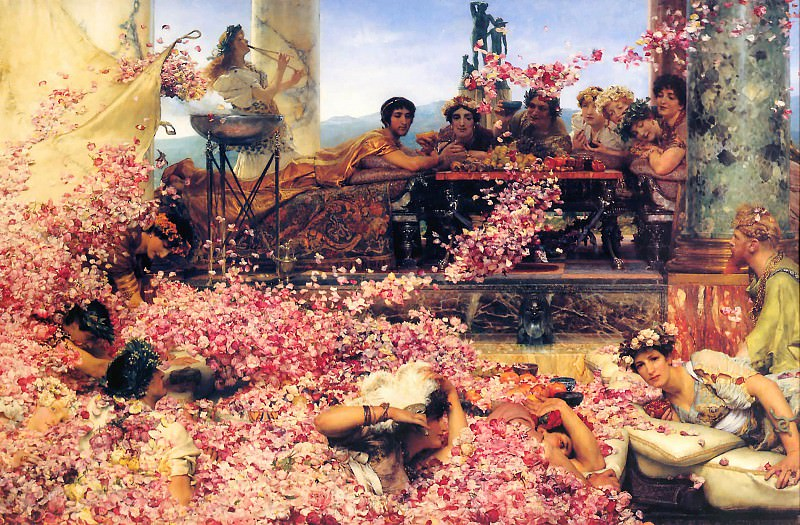 The Roses of Heliogabalus. Lawrence Alma-Tadema