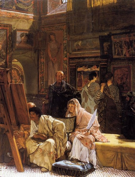 The Picture Gallery (1874). Lawrence Alma-Tadema