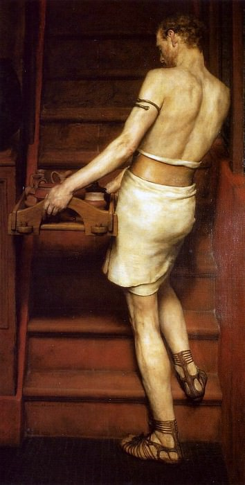 The Roman Potter. Lawrence Alma-Tadema