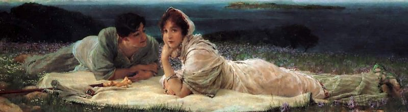 A World of Their Own. Lawrence Alma-Tadema