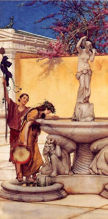 Between Venus and Bacchus. Lawrence Alma-Tadema