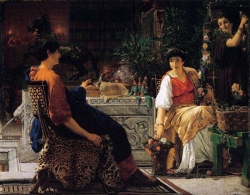 Preparations for the Festivities. Lawrence Alma-Tadema