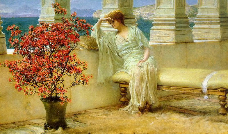 Her Eyes are with Her Thoughts. Lawrence Alma-Tadema