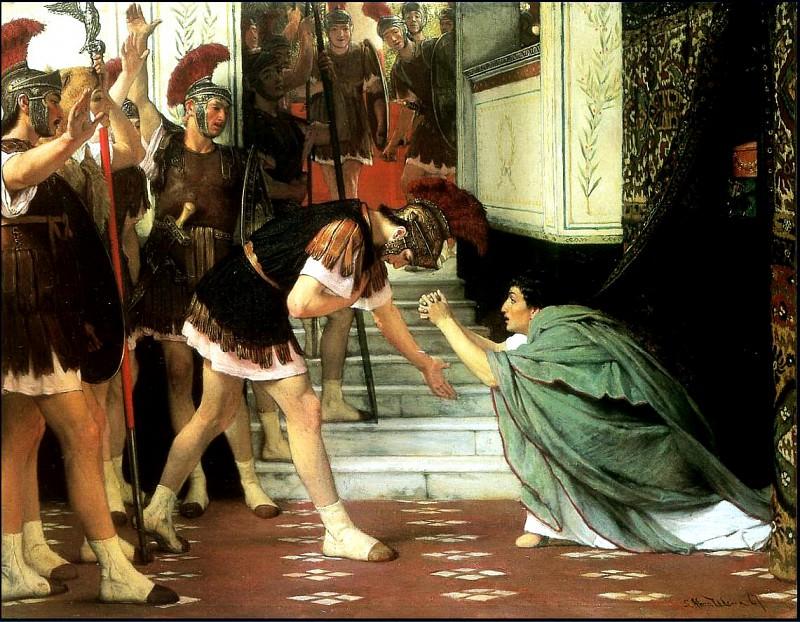 Proclaiming claudius emperor. Lawrence Alma-Tadema