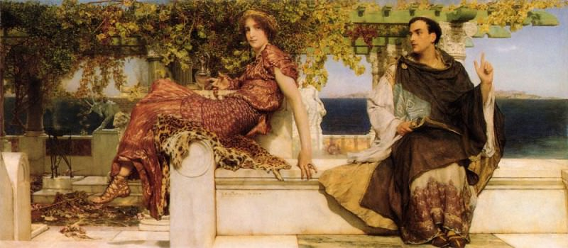 The Conversion of Paula by St Jerome. Lawrence Alma-Tadema