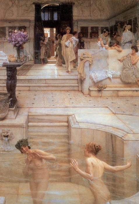 A Favourite Custom. Lawrence Alma-Tadema