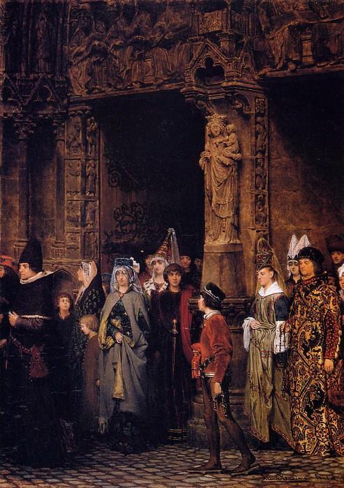 Leaving Church in the Fifteenth Century. Lawrence Alma-Tadema