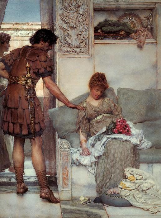 A Silent Greeting. Lawrence Alma-Tadema