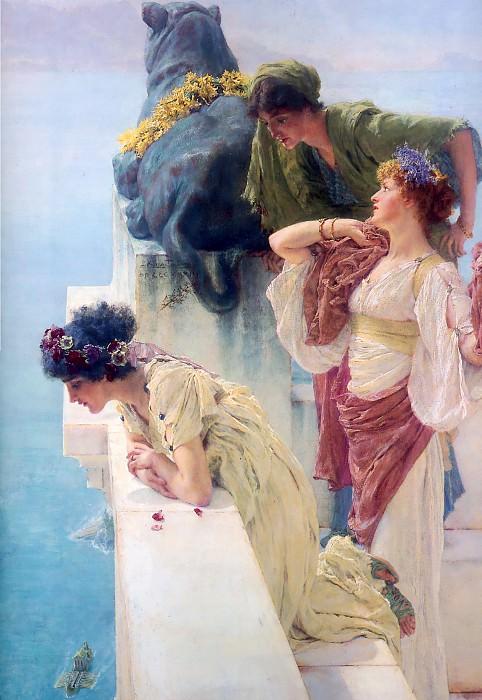 A coign of vantage. Lawrence Alma-Tadema