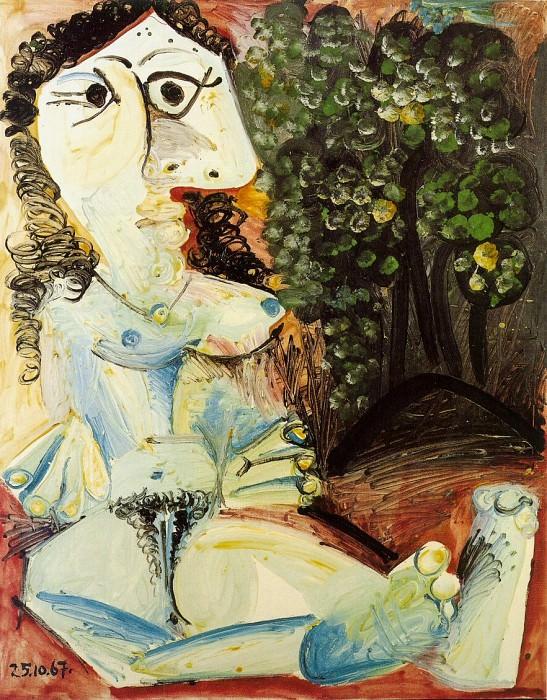1967 Femme nue dans un paysage. Pablo Picasso (1881-1973) Period of creation: 1962-1973