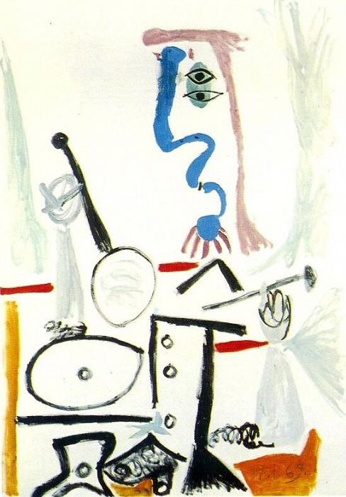 1969 Piero Е la presse Е bras. Пабло Пикассо (1881-1973) Период: 1962-1973