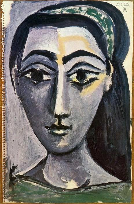 1962 TИte de femme 5. Pablo Picasso (1881-1973) Period of creation: 1962-1973