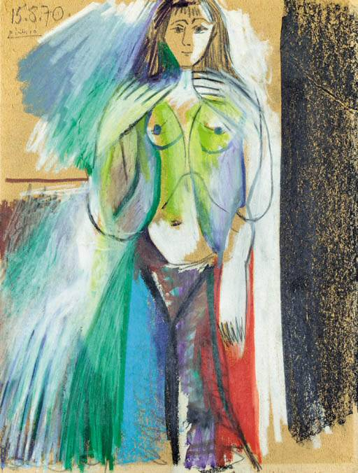 1970 Nu debout. Pablo Picasso (1881-1973) Period of creation: 1962-1973