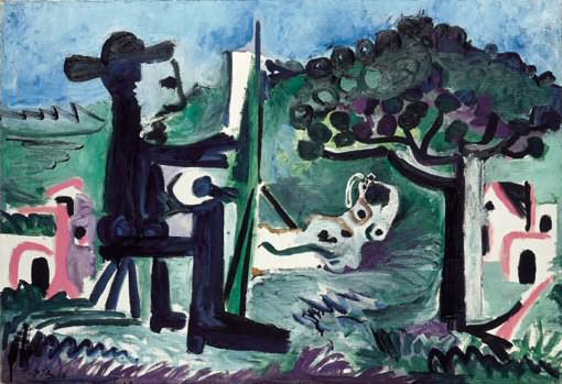 1963 Le peintre et son modКle dans un paysage II. Pablo Picasso (1881-1973) Period of creation: 1962-1973