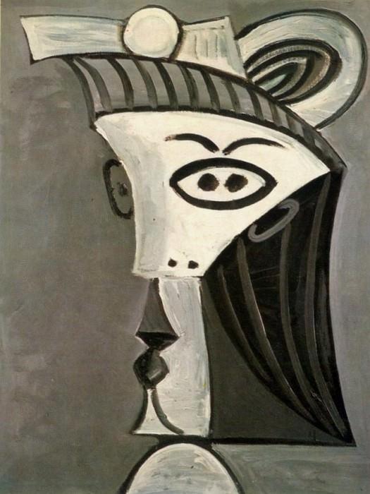 1962 TИte de femme 7. Пабло Пикассо (1881-1973) Период: 1962-1973