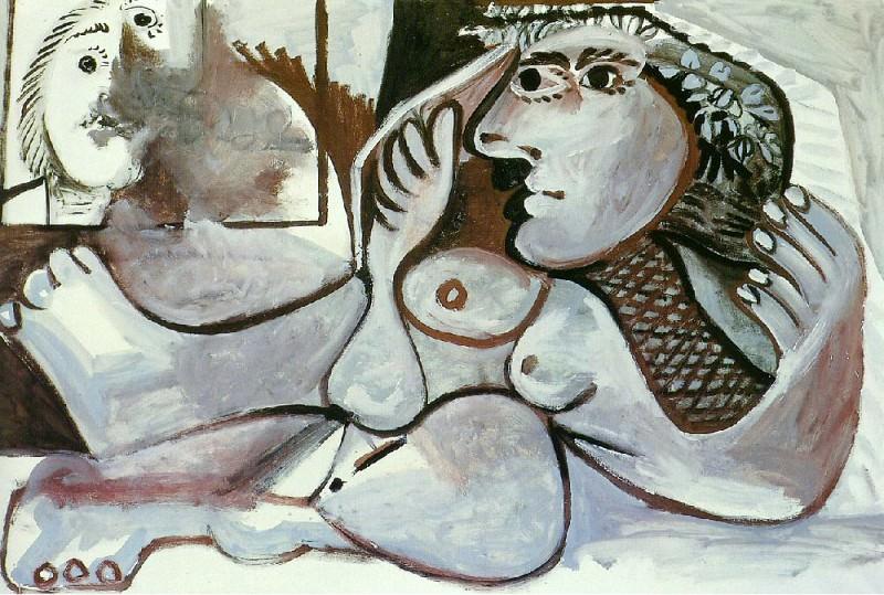 1970 Nu couchВ Е la couronne de fleurs. Pablo Picasso (1881-1973) Period of creation: 1962-1973