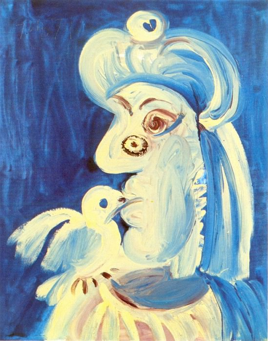 1971 Femme Е loiseau. Pablo Picasso (1881-1973) Period of creation: 1962-1973
