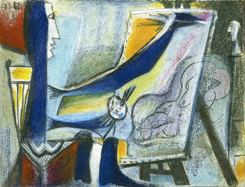 1963 Latelier- le peintre et son modКle V. Pablo Picasso (1881-1973) Period of creation: 1962-1973