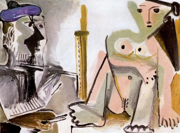 1964 Le peintre et som modКle 5. Pablo Picasso (1881-1973) Period of creation: 1962-1973