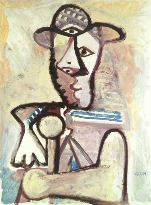 1971 Buste dhomme 4. Pablo Picasso (1881-1973) Period of creation: 1962-1973