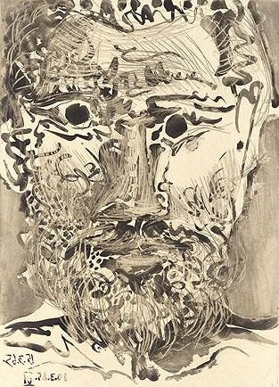 1965 TИte dhomme barbu 3 (Sable Mouvant). Pablo Picasso (1881-1973) Period of creation: 1962-1973