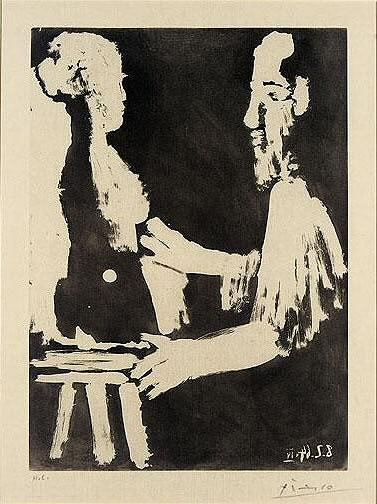 1964 Sculpteur au travail IV (Sable Mouvant). Пабло Пикассо (1881-1973) Период: 1962-1973