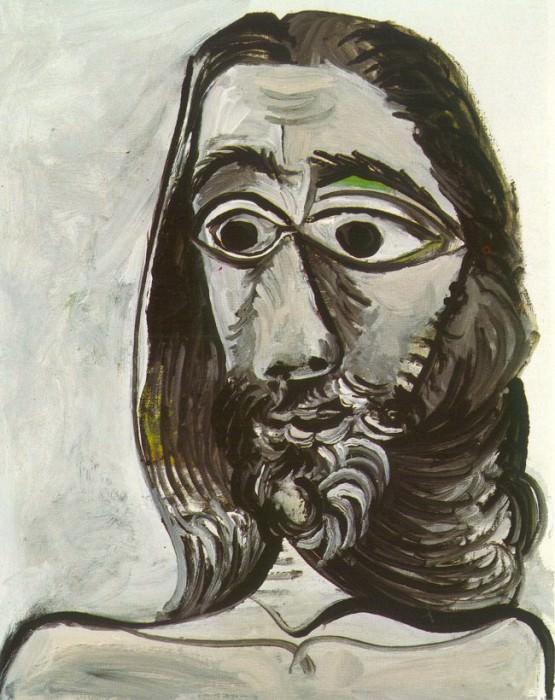 1971 TИte dhomme (pour Jacqueline). Pablo Picasso (1881-1973) Period of creation: 1962-1973