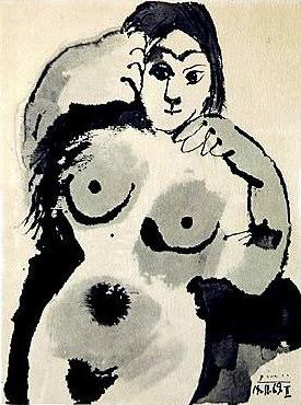 1969 Nu. Пабло Пикассо (1881-1973) Период: 1962-1973
