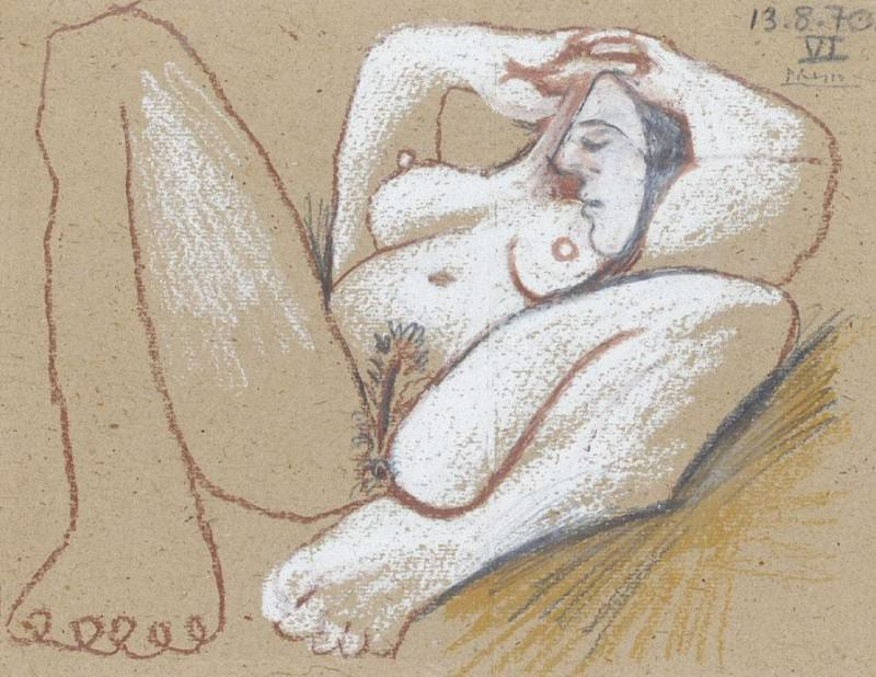 1970 Nu couchВ. Pablo Picasso (1881-1973) Period of creation: 1962-1973