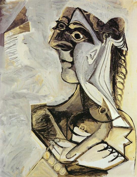 1971 Femme assise (Jacqueline). Пабло Пикассо (1881-1973) Период: 1962-1973