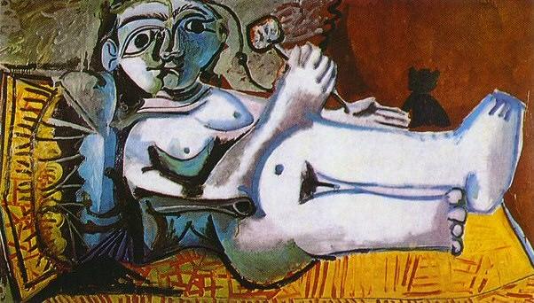 1964 Femme nue couchВe jouant avec un chat 4. Pablo Picasso (1881-1973) Period of creation: 1962-1973