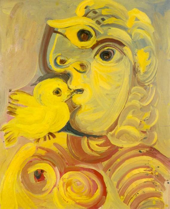 1971 Buste de femme Е loiseau. Пабло Пикассо (1881-1973) Период: 1962-1973