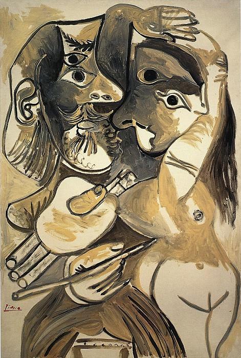 1969 Le peintre et son modКle 2. Pablo Picasso (1881-1973) Period of creation: 1962-1973